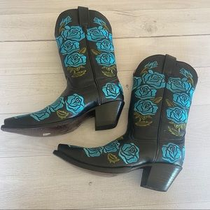 Corral Cowboy Boots roses Pointy Toe Western